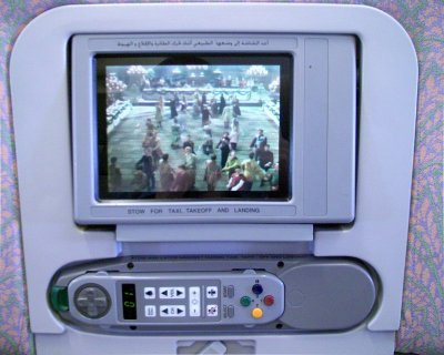 Touchscreen Konsole bei Emirate Airline