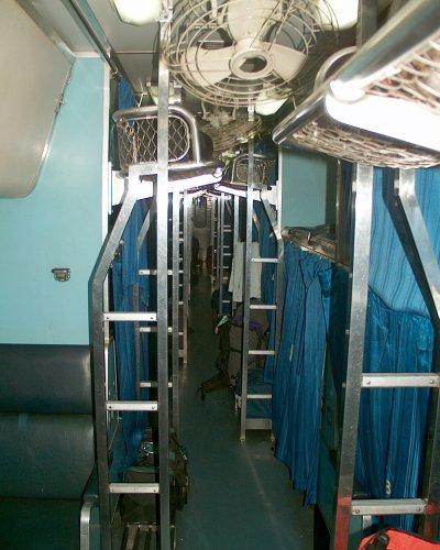 Blick durch den 2. Klasse Schlafwagen