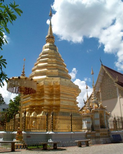 Ein Chedi in Chiang Mai. An Blattgold wird nicht gespart.