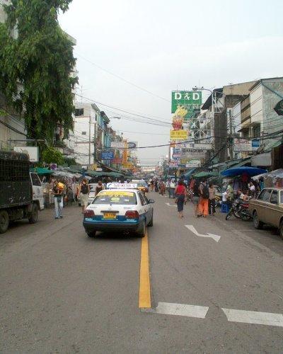 Blick in die Khao San Road