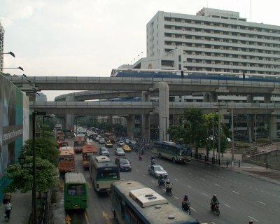 Reger Verkehr in Bangkok