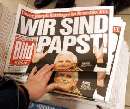 Wir sind Papst! - Bildschlagzeile