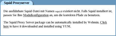 Webmin installiert Pakete mit yum