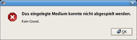 Kein Grund - Fehlermeldung von Totem 1.4.0
